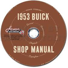 1953 buick repair shop manual reprint supplement