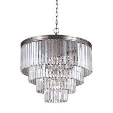 world imports venn 6 light brushed nickel chandelier wi907737