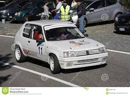 peugeot 205 group b peugeot 205 rally racing editorial photography image of nduring