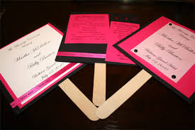 how to make fan wedding programs the fan style of your wedding programs