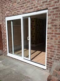 patio doors screen tight fiberglass door is mounted on mini