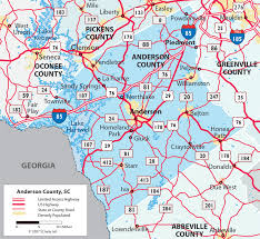 sc highway map maps of county south carolina