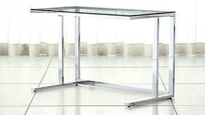 Glass Metal Computer Desk Glass Metal Computer Desk Chrome Desk Aura Silver Metal And Glass