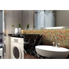 Tile Mosaic Glazed Ceramic Bathroom Mirror Wall Decor Kitchen - Porcelain backsplash