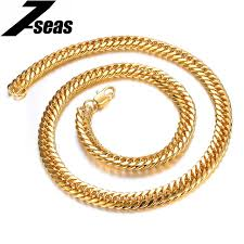 gold link necklace images 7seas boys mens chain gold color jewelry womens curb cuban link jpg