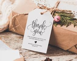 wedding gift tags thank you tag wedding thank you tags gift tags wedding favor