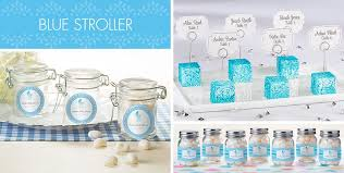 boy baby shower favors blue stroller baby shower party supplies party city