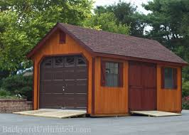 single car garage plans garages u0026 large storage single car garages backyard unlimited