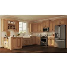 home depot unfinished kitchen cabinets in stock hton bay hton assembled 30x34 5x24 in pots and pans