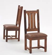 Rustic Dining Chair Rustic Dining Chair Mission Style Woodland Creek Furniture Within