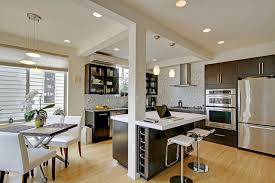kitchen island columns greenlake addition contemporary kitchen seattle by the