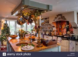 cosy country kitchen with aga butchers island dresser and
