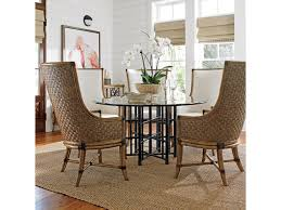 tommy bahama dining table tommy bahama home twin palms six piece dining set with stellaris 60