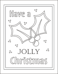 5 christmas coloring cards merry christmas