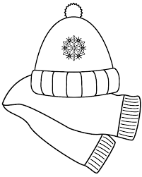 cap clipart winter scarf pencil and in color cap clipart winter