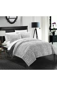 Faux Fur King Size Comforter Chic Home 7 Piece Alligator Print Faux Fur Grey Comforter U0026 Sheets