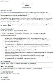 Personal Profile Resume Examples by Flight Attendant Cv Example Icover Org Uk
