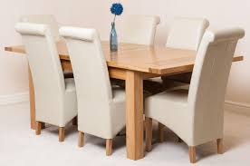 seattle solid oak 150cm 210cm extending dining table with 6