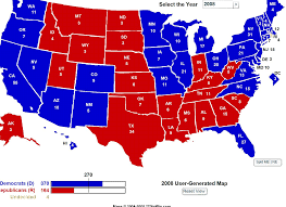 Interactive Map Of Usa by Maps 2008 Election Map Results