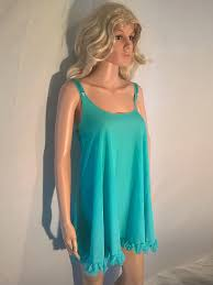 vintage 1970s baby doll negligee for sale aquamarine spinney