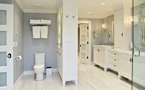 bathroom light gray walls and bathroom sink cabinets also
