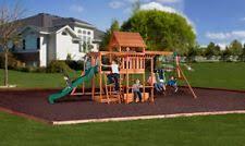 Kids Backyard Play Set by Cedar Wooden Swing Set Kids Backyard Playground Outdoor Slide