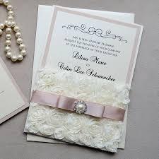 lace wedding invitations lilian rosette lace wedding invitation blush ivory