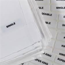 Bed Linen Sizes Uk - iron on size labels for hotel bed linen out of eden