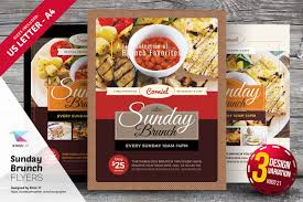 food templates free download sunday brunch flyer templates flyer templates creative market