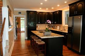 Painted Black Kitchen Cabinets by Painted Black Kitchen Cabinets Before And After Kitchen Decoration