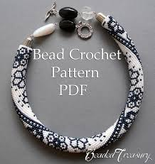 necklace pattern images Winter lace bead crochet necklace pattern bead crochet rope jpg