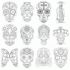 candy skulls coloring pages coloring home