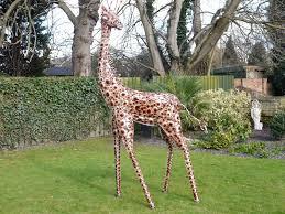 metal giraffe ornament greens home and garden