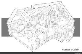 Cabin Design by Artstation 3 4 Hunter Cabin Design Dennis Van Kessel