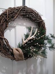 antler wreath deer antler wreath rustic