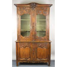 stunning antique 18th c louis xv french country cabinet glass