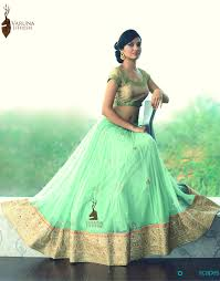 Pista Color by Pista Green Designer Lehenga Online Varuna Jithesh