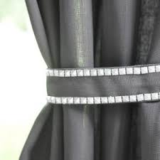 How To Install Curtain Tie Backs Tie Back Curtains D Two White Bow Curtain Tie Backs Decorative
