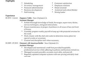 Sample Restaurant Resume by Political Campaign Assistant Resume Example Download Sample Resume