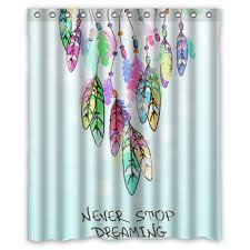 36 X 72 Shower Curtain Buy Designer Aztec Dreamcatcher Feather Elegant Shower Curtain 36