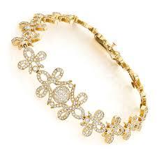 ladies gold chain bracelet images Gold designer ladies diamond bracelet 7 10ct jpg