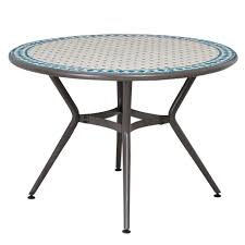 Outdoor Table Lazy Susan by Metal Round Patio Table Starrkingschool