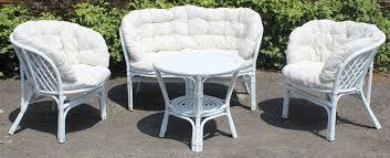 tavoli e sedie da giardino usati set completo salotto in vimini bamb禮 e rattan bahama bianco