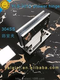 glass door clamp 90 degree open both sides clamp polished 304 stainless steel glass