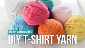 how to make continuous t shirt yarn from knit jersey fabric youtube