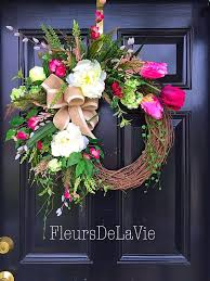 spring door wreaths a personal favorite from my etsy shop https www etsy com listing