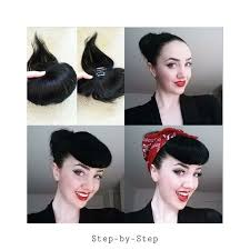 pinup clip in ponytail with bangs 32 best betty bangs images on pinterest betty bangs rockabilly