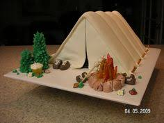 camping tent wedding cake topper funny cute personalized