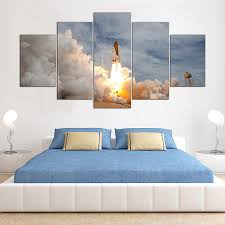 space shuttle prints promotion shop for promotional space shuttle printed modular frame picture large canvas painting for bedroom 5 panel the space shuttle living room home wall art decor