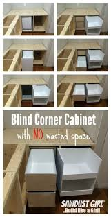 How To Measure For A Lazy Susan Corner Cabinet Build A Blind Corner Cabinet With No Wasted Space Plan And